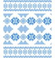 embroidered handmade cross-stitch ethnic pattern vector image
