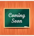 Coming soon concept with school board vector image