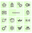 14 romance icons vector image vector image