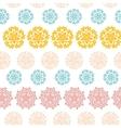 Abstract decorative circles stars striped seamless vector image vector image