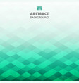 abstract of green blue geometric background vector image