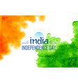 abstract tricolor indian flag watercolor vector image vector image