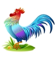 Blue bird cock Blue Rooster symbol 2017 year on vector image vector image