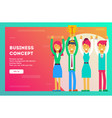 business concept business team - winner vector image