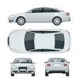 business sedan vehicle car template vector image vector image