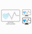 cardio monitoring mesh network model vector image vector image
