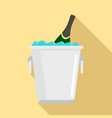 champagne ice bucket icon flat style vector image vector image