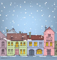 christmas in city winter holidays vector image vector image