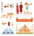 Country India travel vacation guide of goods vector image