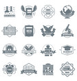 credit logo icons set simple style vector image vector image