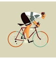 Cyclist athlete cartoon vector image vector image