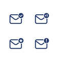 email inbox mail icons on white vector image