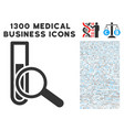 explore test-tube icon with 1300 medical business vector image