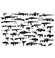 firearms big set of different modern fire vector image