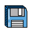floppy disk storage information vector image