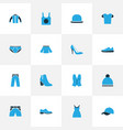 garment colorful icons set collection of panties vector image