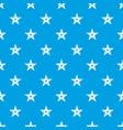 geometric figure star pattern seamless blue vector image vector image