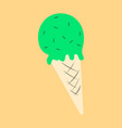 ice cream cone icon isolated on background trendy vector image