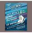 Ice rink advertising poster vector image vector image