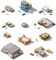 Isometric buildings set