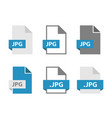 jpg files document icon set file format sign vector image