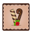letter v candies chocolate vector image vector image
