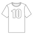 line art black and white t-shirt vector image vector image