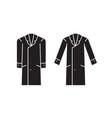 men overcoat black concept icon men vector image vector image