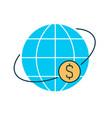 money world transfer vector image vector image