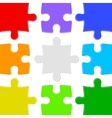 Nine color puzzles vector image