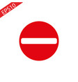 no entry traffic sign mesh vector image vector image