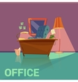 Office Retro Design vector image vector image