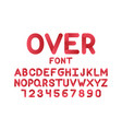over font alphabet letters vector image