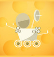 planet rover on the yellow moon vector image vector image