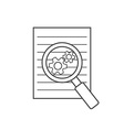 Preparation business contract linear icon vector image