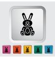 Rabbit toy vector image