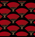 red fans seamless pattern vector image