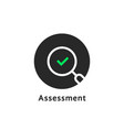 round simple assessment logo on white vector image