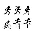running icons and symbol in design vector image vector image