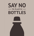 say no to plastic bottle trendy ecological vector image