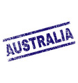 scratched textured australia stamp seal vector image vector image