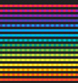 seamless stylized abstract rainbow stripes vector image