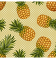 seamless texture of pineapple vector image vector image