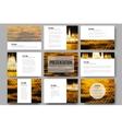 Set of 9 templates for presentation slides Night vector image vector image