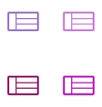 Set of paper stickers on white background emirates vector image vector image