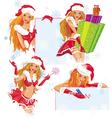 sexy santa girl vector image vector image