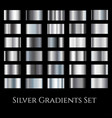 silver metal gradient set gradation design vector image