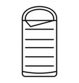 sleeping bag icon outline style vector image vector image
