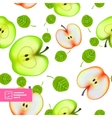 slice apple seamless pattern vector image