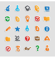 Sticker icons for science vector image vector image